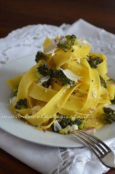 Pappardelle con Pesce, Broccoli e Pecorino  #juliesoissons