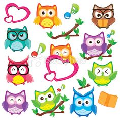 Owl clip art images | Cute and Happy Owl Clip Art Royalty Free Stock Vector Art Illustration
