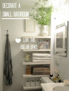 ideas to add storage in a small bathroom beside the toilet or in no. #7 over the toilet!