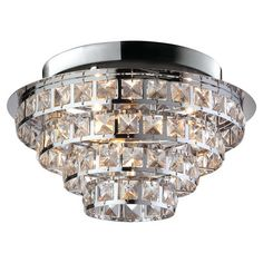 Complete your look with this sparkling semi-flush light fitting, perfect in the master bedroom or above the dining table.   Product...
