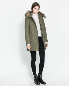Image 1 of NYLON ANORAK from Zara