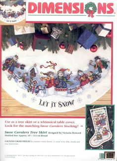Gallery.ru / Фото #1 - 9 - IannaD X-stitch Let It Snow Tree Skirt & Stocking free pattern