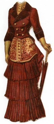 Vintage Paper Doll Dress ~ LÁMINAS ANTIGUAS 3-Ideas y Trabajos terminados (pág. 630) | Aprender manualidades es facilisimo.com