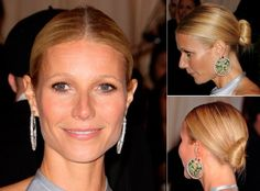 Gwyneth Paltrow with an updo hairstyle