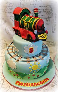 Train Cake  - Cake by Sabrina Di Clemente