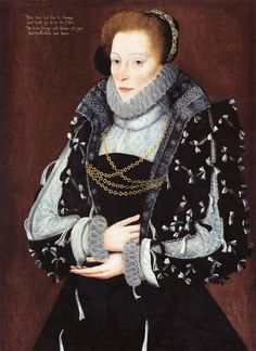 circa 1570 and circa 1575  Artist: George Gower (1540–1596)  Description: English: Portrait of a Lady, thought to be Isabel Biddulph, née Gifford.