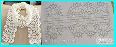 simple crochet lace scarf! I love spring!!