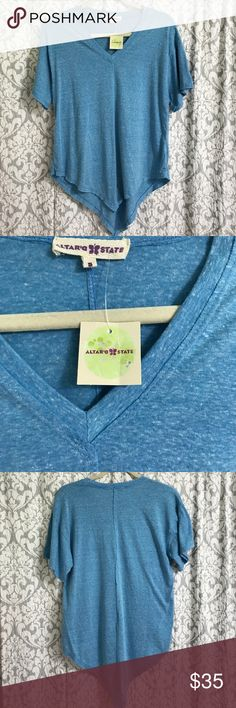 NWT! Altar'd Stare Shirt NWT! Color is Dusty Blue Altar'd State Tops Tees - Short Sleeve