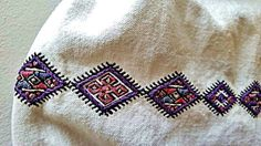 Romanian blouse embroidery detail. Gabriel Boriceanu collection Folk Costume, Costumes, Romania, Diy And Crafts, Textiles, Embroidery, Detail, My Love, Blouse