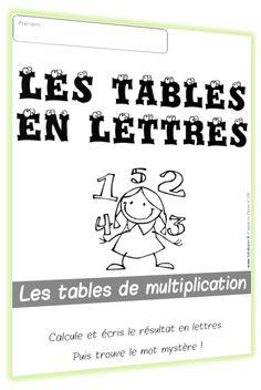 Les tables en lettres : la suite ! - Chez Lutin Bazar