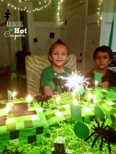 cake 3 Minecraft Party Ideas