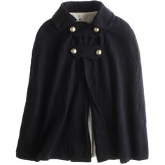 Military Cape (€190) ❤ liked on Polyvore featuring outerwear, jackets, coats, tops, cape, women, local celebrity, cape coat, military capes and military cape coat