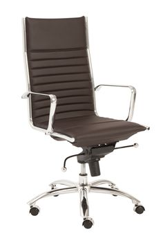 High Office Chairs togo high back black leather office chair | office | contemporary
