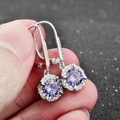 Buy 2 Items Get 1 Free FREE FAST SHIPPING (usually delivered in 48h-72h in the USA only) Get this beautifulCubic Zircon Drop Earrrings! Material:925 Sterling Diamond Earrings, Drop Earrings, Jewelries, Silver Color, Sapphire, Sterling Silver, Blue, Stuff To Buy, Free Shipping