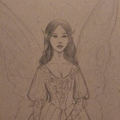 And it wouldn't be #sketchfest without a fairy  #fantasyart #pencildrawing #artsy #artistsoninstagram #fairy #sketching