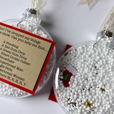 """I Spy"" Ornament {Christmas Gifts}  This cute and clever Christmas gift makes a wonderful interactive stocking stuffer for children of all ages. They will love spying for their little treasures, and they can save the ornaments to hang on the tree next year."
