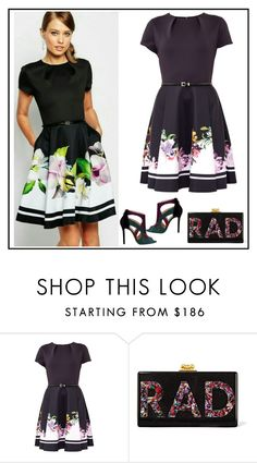 """""""Untitled #156"""" by rita-tahchi ❤ liked on Polyvore featuring Ted Baker, Elie Saab and Edie Parker"""