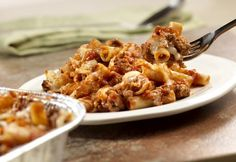 Now and later baked Ziti Casserole. Ziti, sauteed beef and onion, Prego® Fresh Mushroom Italian Sauce and cheeses are combined to bake and serve now or to freeze to bake later. Casserole Recipes, Pasta Recipes, Cooking Recipes, Dinner Recipes, Cooking Ideas, Casserole Dishes, Soup Recipes, Chicken Recipes, Healthy Recipes