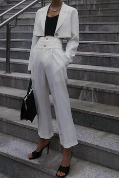 The fashion pure color high waist wide leg pants  with pocket is so elegant  and you may like it. #pantsforwomen  #pantsforwomencasual #pantsforwomenfashion #pantsoutfitwork #pantsoutfitcasual Pants Outfit, Wide Leg Pants, High Waist, Pants For Women, Pure Products, Pocket, Elegant, Chic, Lady