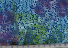 Galaxy Fabrics~JAVA BATIKS~BLUE/PURPLE PAISLEY~JABJBSG1-0002~order by the yard