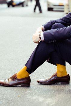 Falke Airport Mustard Socks in Yellow for Men (mustard)