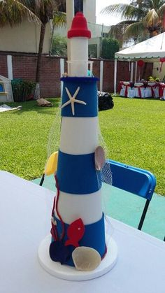 Use the styrofoam cones that Gram has Sailor Birthday, Sailor Party, Baby Birthday, Birthday Parties, Nautical Party, Nautical Wedding, Vintage Nautical, Pirate Party, Baby Boy Shower