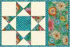mug rug pattern snack mat mini quilt placemat by AnniesQuiltCraft