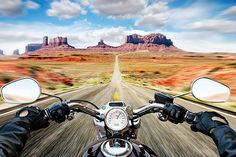 Riding through the desert is one of my favorite things, this photo captures a lot of that beauty. One of the best things about being on a mo... (Original photo: Getty Images, photographed by Caroline Purser)