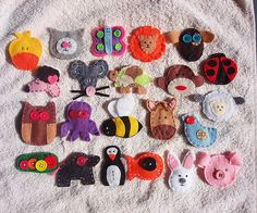 felt animals that I made for my four year-old grandson.  Fast & cute.
