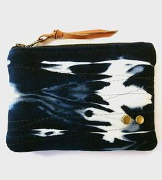 Bleached Denim Zipper Pouch by Dish Handbags on Scoutmob Shoppe