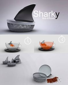 Sharky: Tea-Infuser | Community Post: 18 Amazing Geeky Kitchen Gadgets And Gear Ideas To Impress Your Friends
