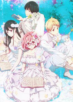 Nase Mitsuki & Nase Hiroomi & Kanbara Akihito & Kuriyama Mirai | Kyoukai no Kanata #anime