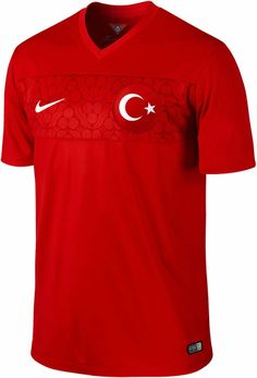 The Turkey Home Jersey 2014 - 2015 is Official Nike Merchandise and is Available to Buy Now from Soccer Box with Fast Worldwide Shipping. Turkey National Team, National Football Teams, Soccer Boots, Soccer Jerseys, Nike Swoosh Logo, Sweater Refashion, Team Wear, Wet T Shirt, Football Kits