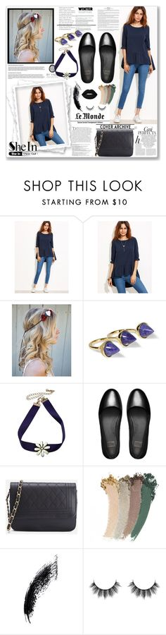 """""""SheIn"""" by naida-piric ❤ liked on Polyvore featuring Noir Jewelry, FitFlop, Whiteley, Balmain, Gucci and Lime Crime"""