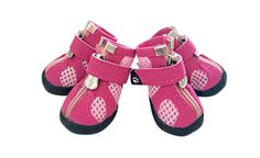 KYZ Breathable Mesh Small Dog Shoes Anti-slip Dog Boots Size 1/2/3/4/5 Blue Pink -- Find out more about the great product at the image link.