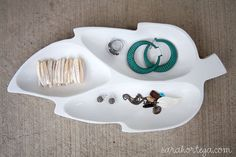spray paint and thrift store finds can make anything a jewelry holder