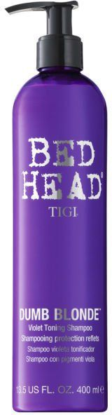 Pin for Later: Blondes Will Certainly Have More Fun After Using These Products TIGI Bed Head Dumb Blonde Purple Toning Shampoo TIGI Bed Head Dumb Blonde Purple Toning Shampoo (£20)