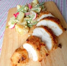 Oven Fried Picnic Chicken and a Creamy Garden Potato Salad