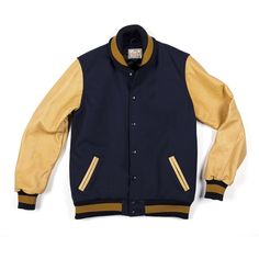 Navy & Gold Varsity Jacket. William Dehen built the first Dehen varsity jacket in 1951. Sixty years and countless jackets later, Dehen continues to craft every jacket by hand, using time honored methods, and the best materials.