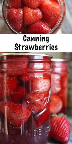 Canning Strawberries Canning Strawberries ~ How to Can Strawberries at Home ~ Whole Strawberries or Slices ~ Easy water bath canner recipe<br> Canning strawberries is an easy and versatile way to put up the berry harvest. Home Canning Recipes, Canning Tips, Cooking Recipes, Pressure Canning Recipes, Canning Soup, Strawberry Recipes For Canning, Pressure Cooking, Canning Jar Storage, Canning Beans