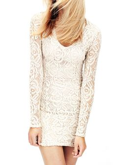 Clea Lace Dress, a little looser and longer would be nice