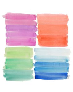 Rainbow Watercolor Ombre Art Print 8x10 by OutsideInArtStudio, $18.00