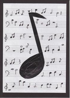 Iris folded music note
