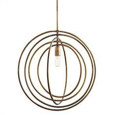 Buy the Arteriors 46836 Antique Brass Direct. Shop for the Arteriors 46836 Antique Brass Quintana Pendant and save. Globe Pendant, Lantern Pendant, Brass Pendant, Pendant Lighting, Light Pendant, Luxury Lighting, Home Lighting, Lighting Ideas, Kitchen Lighting