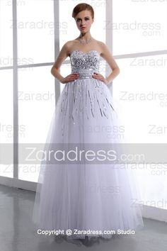 Absorbing Cheap White Sweetheart Corset Floor Length Organza Wholesale.