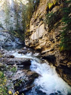 The beautiful Johnston Canyon in Banff National Park