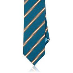 Bigi Men's Striped Silk Satin Necktie (320 BRL) ❤ liked on Polyvore featuring men's fashion, men's accessories, men's neckwear, ties, mens neck ties, mens ties, mens striped ties and mens neckties