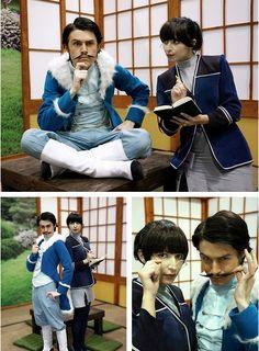 Varrick and Zhu Li cosplay from The Legend of Korra