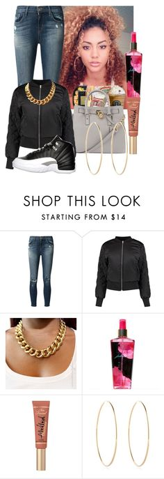 """""""💯12s💯"""" by xodemiarianajustinxo ❤ liked on Polyvore featuring J Brand, Retrò, Victoria's Secret, Too Faced Cosmetics and Maria Francesca Pepe"""