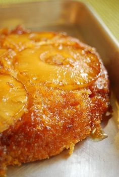 brown butter pineapple upside-down cake - drool. My aunt always made a pineapple-upside down cake--I think I'll try it! Sweet Recipes, Cake Recipes, Dessert Recipes, Food Cakes, Cupcake Cakes, Cupcakes, Kolaci I Torte, Pineapple Upside Down Cake, Pineapple Cake